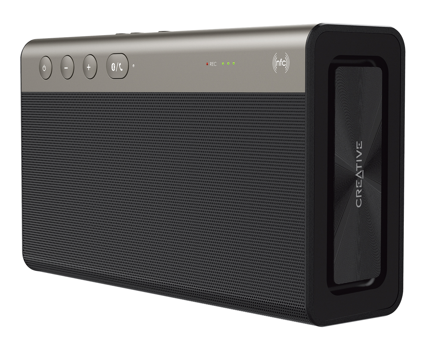 Creative Sound Blaster Roar 2 Portable NFC Bluetooth Speaker with aptX/AAC (Black) Standing Up
