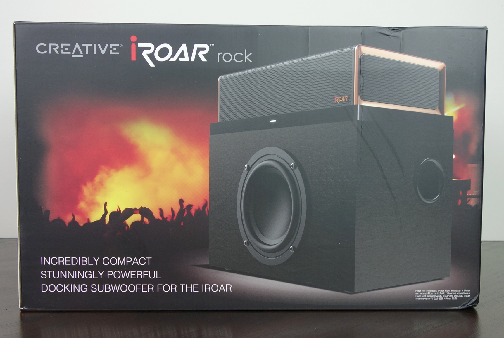 Creative iRoar Rock Docking Subwoofer box
