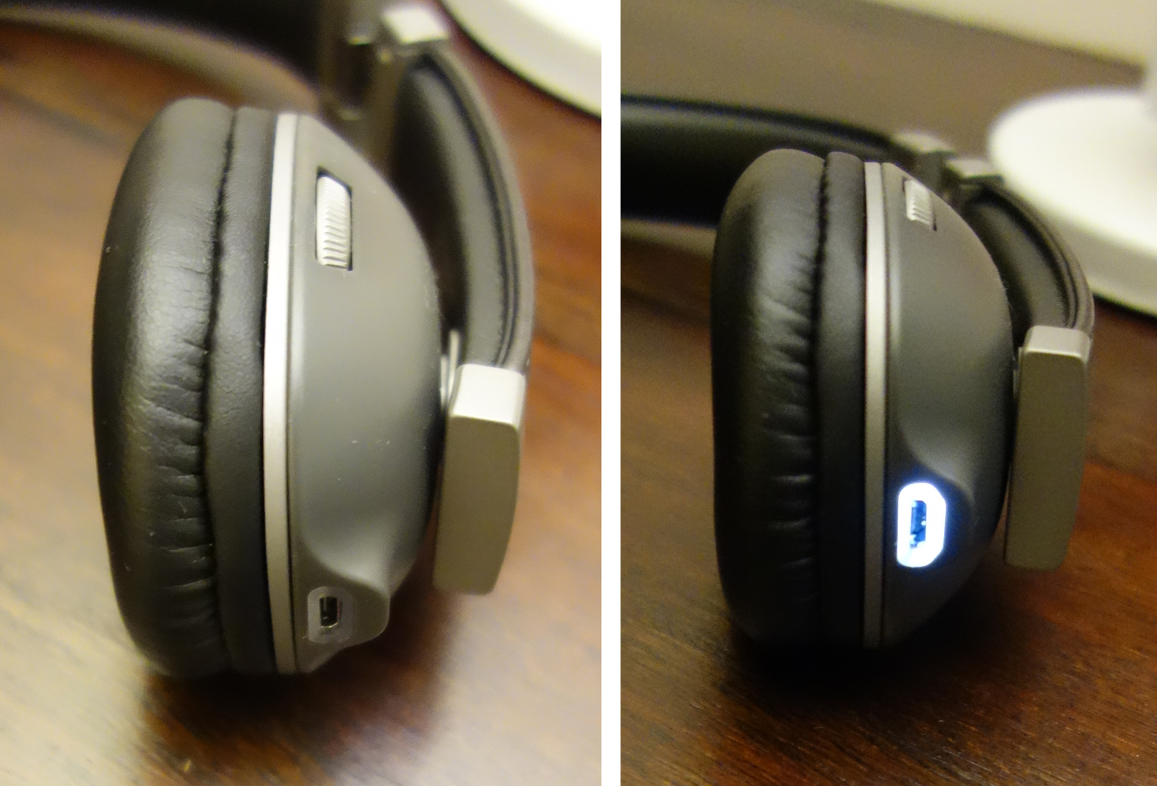 Polk Hinge Wireless Black Headset Review Micro USB Jack