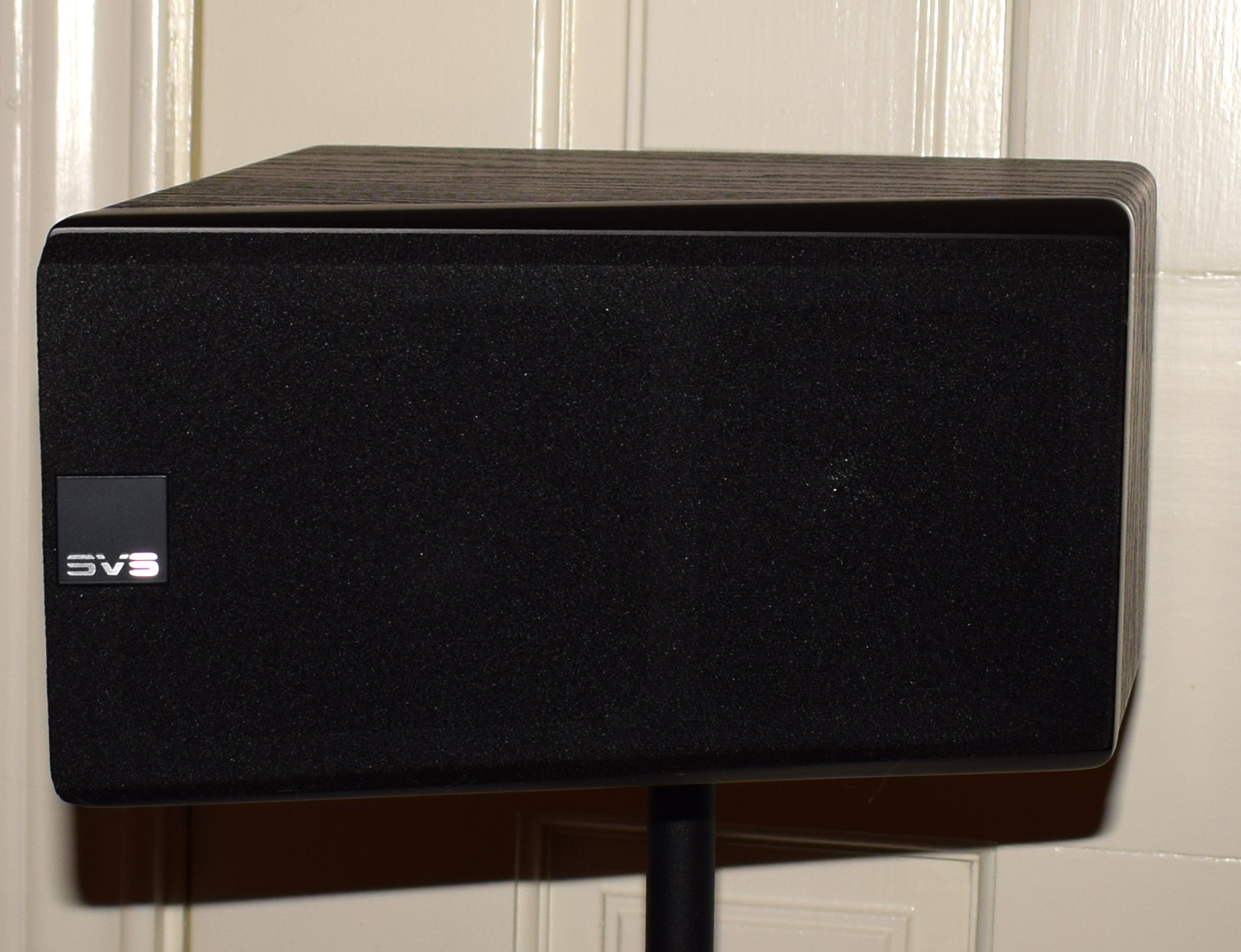 SVS Prime Elevation Speaker Review Surround Back on stand
