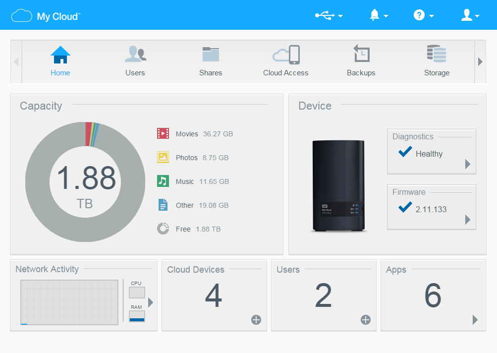 Wd My Cloud Ex2 Ultra Network Attached Storage Gear Review High Def Digest